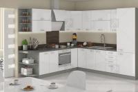 Kuchyně Bianka Bílý lesk - Komplet L 260x270 - Komplet nábytku kuchyňského