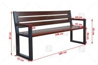 Moderná lavica s operadlom Palisander Rozmery