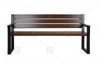 Moderná lavica s operadlom Palisander Záhradný nábytok