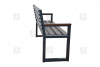 Moderná lavica s operadlom Palisander Pevná konštrukcia