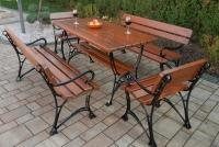 Kráľovská lavica s lakťovými opierkami Cyprys