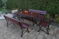 Kráľovská lavica s lakťovými opierkami Višňa