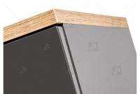 Niska Skrinka stojaca do lazienki Bali Grey 810 - Grafitový lesk / Dub wotan imitacja drewna