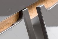Skrinka pod umywalke o szerokosci 60 cm Bali Grey 820 - Grafitový lesk / Dub wotan  drzwiczki bez uchwytow