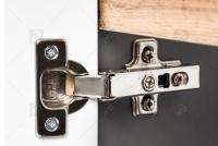 Skrinka pod umywalke o szerokosci 60 cm Bali Grey 820 - Grafitový lesk / Dub wotan  Tiché zatváranie w szafkach