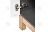 Skrinka pod umywalke o szerokosci 60 cm Bali Grey 820 - Grafitový lesk / Dub wotan  wysoka Skrinka do lazienki