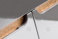 Skrinka z zrkadlom Bali Grey 840- 60 cm Grafitovo matné / Dub wotan fronty bez uchytow