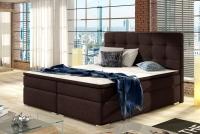 Boxspring posteľ Inez 160 x 200 Posteľ Inez s veľmi pohodlným matracom a ozdobným čelom postele