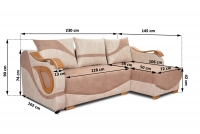 Rohová sedacia súprava do salonu Dakota - Koncovka Série - Výpredaj Univerzálna rohova sedacia súprava