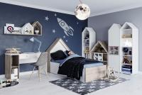 Detská posteľ domček 90x200 Domini 11 Komplet nábytku do detskej izby