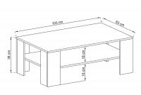 Konferenčný stolík SL103 Favi Dub Riviera - Výpredaj expozície