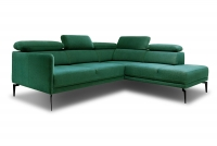 Moderní Rohová sedací souprava do obývacího pokoje Luis s taburetem