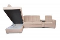 Rohová sedacia súprava z elektrycznie wysuwana funkcja Relax Presto OTM-BK/2,5F/TT/1RFele - Dopredaj kolekcie   Rohová sedacia súprava S vnútorným úložným priestorom