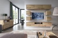Moderná závesná TV skrinka so zásuvkami Altara TV120 Biela kolekcia Altara