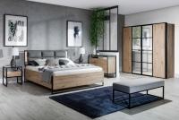 Skriňa dvojdverová z zrkadlom GlassLoft  Komplet sypialniaby