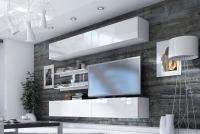 Skrinka stojaca Combo 5 - Biely/MDF Biely lesk  elegantná Obývacia stena