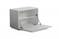 Komplet moderného nábytku do predsienie Combo - Biely/MDF Biely lesk