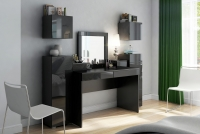 Nadstavec do Toaletné stolíky Combo 15 - grafit/MDF Čierny lesk Nadstavec Combo Čierna do spálne
