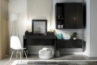 Nadstavec do Toaletné stolíky Combo 15 - grafit/MDF Čierny lesk Nadstavec Combo Čierna