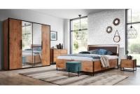 Posteľ do  spálňa  Loft 160x200 - S vnútorným úložným priestorom- Výpredaj expozície spálňa w stylu loft