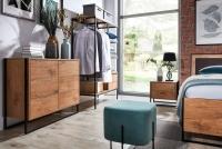 Posteľ do  spálňa  Loft 160x200 - S vnútorným úložným priestorom- Výpredaj expozície loftowa spálňa