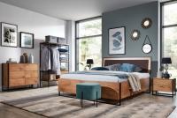 Posteľ do  spálňa  Loft 160x200 - S vnútorným úložným priestorom- Výpredaj expozície Komplet nábytku loft