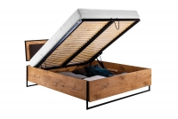 Posteľ do  spálňa  Loft 160x200 - S vnútorným úložným priestorom- Výpredaj expozície Posteľ S vnútorným úložným priestorom