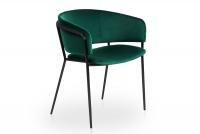 Židle čalouněná Nicole na černých nožičkách - Zelený