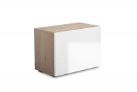 Komplet moderného nábytku do predsienie Combo V - Dub wotan/MDF Biely lesk