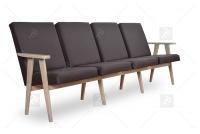 Kreslo - Klubová lavica do čakárne 4 os. cztery Stoličky do čakárne