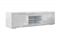 TV stolík v bielej farbe s vysokým leskom 2D Elvie 05 - Bogart Design