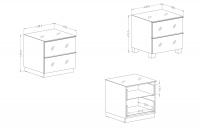 TV komoda so zásuvkami Helio 38 Biela - Biele sklo  TV skrinka Biela