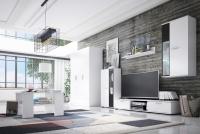Zostava Kaja Biely mat so skriňou a konf. stolíkom - Nábytok do obývacej izby