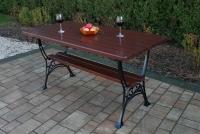 Kráľovská zostava bez lakťových opierok Višňa stôl záhradný