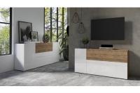 Komplet nábytku II Power I Biely - sandal oak/Biely lesk - sandal oak 24BSJE