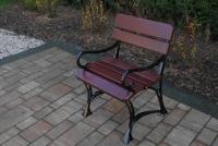 Kráľovská stolička s lakťovými opierkami Višňa