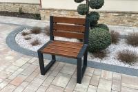 Židle moderní s opěradlem bez loketních opěrek