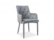 Židle čalouněné Ricardo Velvet šedý bluvel14