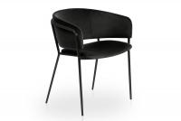 Židle čalouněná Nicole na černých nožičkách - Černý