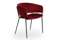 Židle čalouněná Nicole na černých nožičkách - Červený