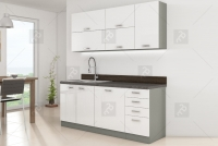 Kuchyně Bianka Bílý lesk - Komplet 1,8 - Komplet nábytku kuchyňského