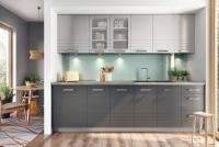 Kuchyně Paula šedý Mat - Komplet 2,6m z WS80 - komplet nábytku do kuchyně