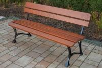 Kráľovská lavica Cyprys bez lakťových opierok lawka drewniana do parku