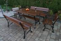 lavica kráľovská bez podrúčok Orech Záhradný nábytok
