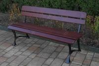 Kráľovská lavica Višňa bez lakťových opierok
