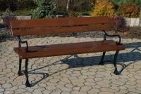 Kráľovská lavica s lakťovými opierkami Vlašský orech