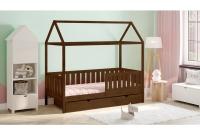 Detská posteľ domček Dora 2 Certifikát brazowe Posteľ domek, so zásuvkami