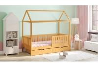 Detská posteľ domček Dora 2 Certifikát Posteľ domek z barierkami i szufladami