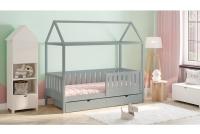 Detská posteľ domček Dora 2 Certifikát šedá Posteľ detský domek