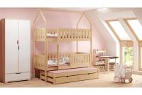 Patrová postel domeček Dolores 3-osobová Certyfikat